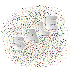 confetti and sale vector image vector image