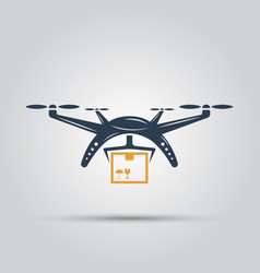 drone delivery isolated colored icon vector image vector image