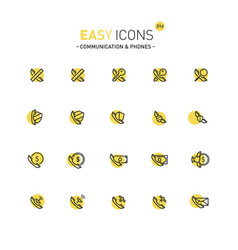 Easy icons 31d phones vector