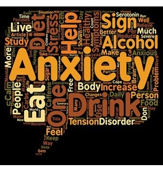 Eat healthy and be free from anxiety text vector