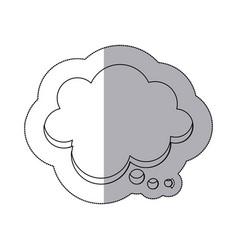 figure chat cloud bubble icon vector image vector image