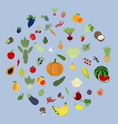 Fruit vegetable set vector