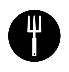 Garden rake isolated icon vector