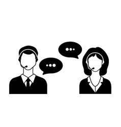 male and female call avatar icons with a faceless vector image vector image