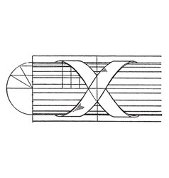 Modern enrichment torus moulding modern alike vector