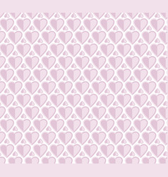pale rose color pattern with heart vector image vector image