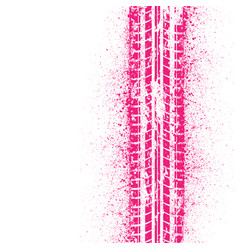 Pink ink tire track vector