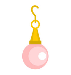 Pink pearl pendant icon isolated vector