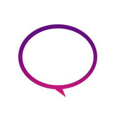 Purple round chat bubble icon vector