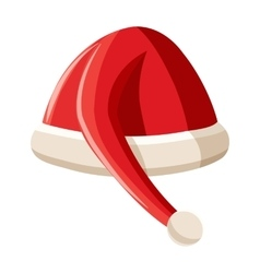Red christmas hat icon cartoon style vector image vector image