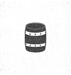Retro barrel icon isolated on white background vector