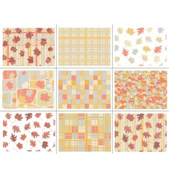 seamless autumn patterns vector image vector image