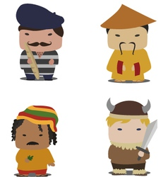 Set of characters vector