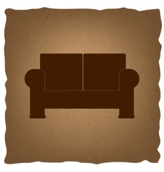 Sofa sign vintage effect vector
