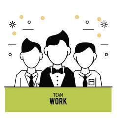 teamwork icons design vector image