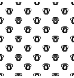 Tourist backpack pattern simple style vector