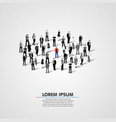 unique person in the crowd vector image vector image