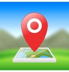 Location symbol application for smartphones vector image