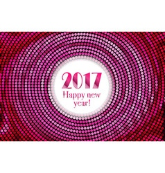 Happy new year 2017 halftone banner vector