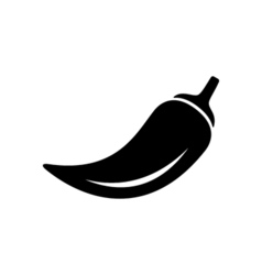 Pepper icon flat vector