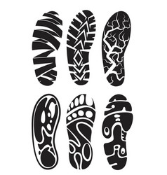 footprint sport vector image