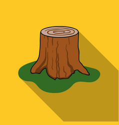 tree stump icon in flat style isolated on white vector image