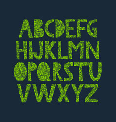 Hand drawn alphabet with organic texture vector