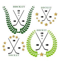 The theme hockey vector