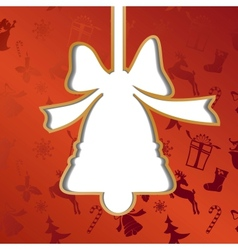 Christmas bell festive background vector