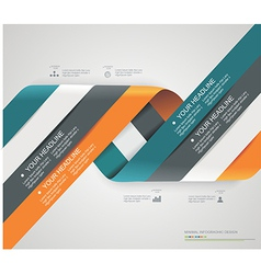 Modern spiral options banner vector