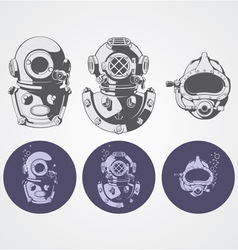dive helments vector image
