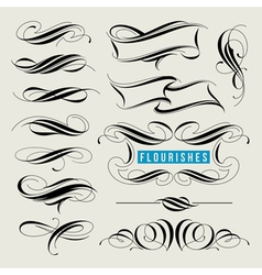 Set of calligraphic flourishes and page decor vector