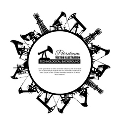 Oil industry circle frame vector image