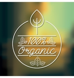 Organic product design vector