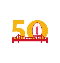 Pro football championship 50 bridge vector