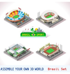 Game set 12 building isometric vector
