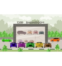 Car showroom vector
