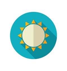 Sun flat icon summer vacation vector