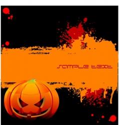 halloween grunge banner vector image
