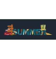 Summer lettering on dark background dedicated to vector
