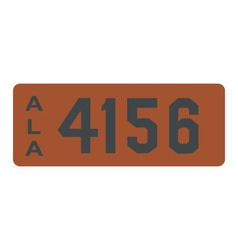 Alabama 1913 license plate vector