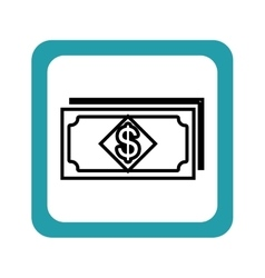Bills money pattern isolated icon vector