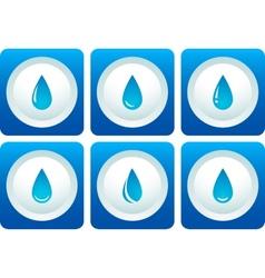Blue water drop set vector