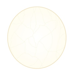 Button circle cracks in the porcelain vintage vector