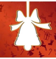 Christmas bell festive background vector