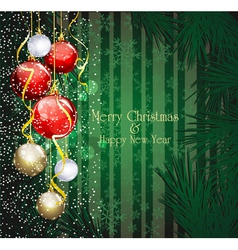 christmas festive background vector image vector image