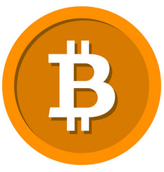 coin with a bitcoin sign vector image