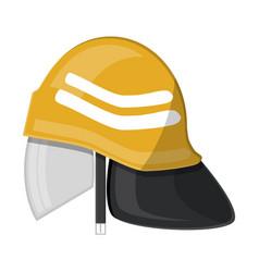 firefighter helmet fire equipment vector image vector image