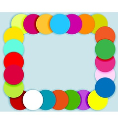 Frame made of color circles vector
