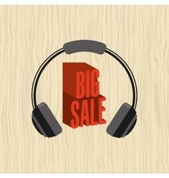 music sale design vector image